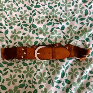 Vintage linea pelle leather accent belt